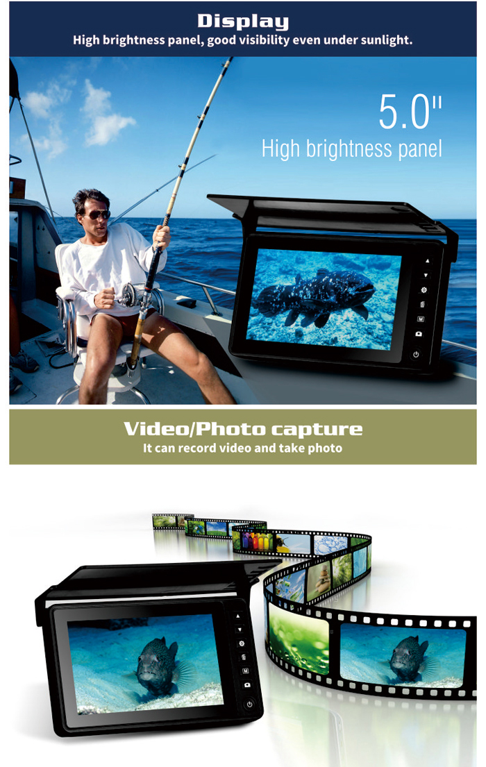 Eye2Fish DY05A Video Fish Finder good visibility under sunlight