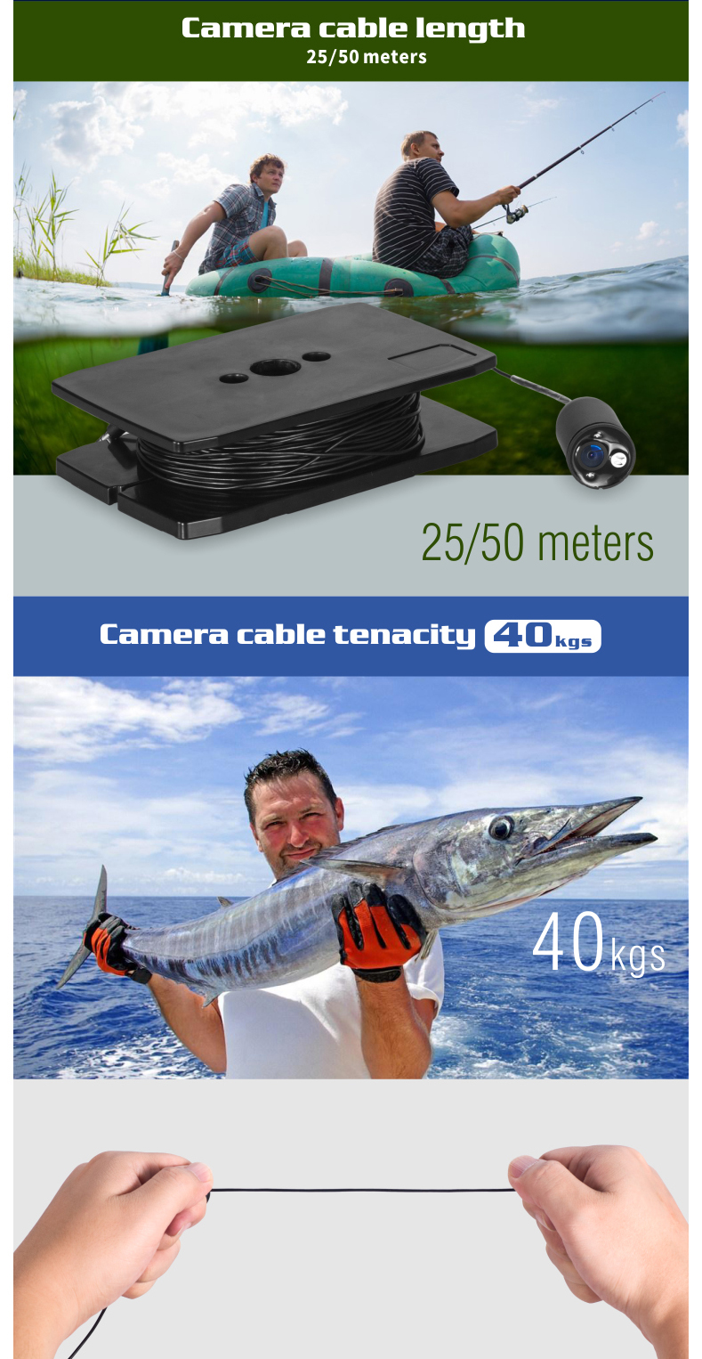 Camera Cable Length 25/50 meters, Camera Cable tenacity 40kgs